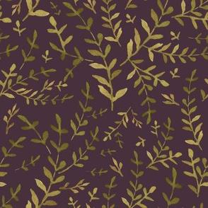 """8"""" Autumn Harvest Leaves - Deep Purple"""