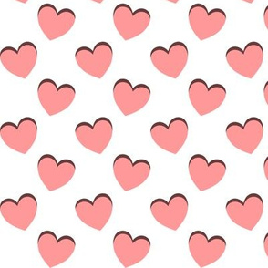dancing pink hearts pattern