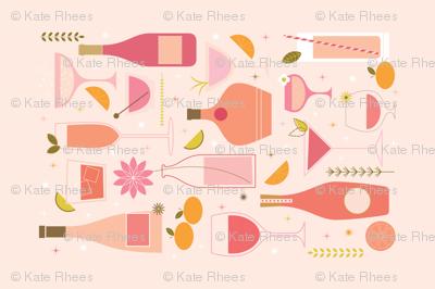 Rosé All Day - Tea Towel