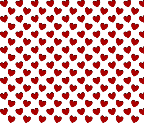 dancing red hearts pattern fabric by katz_d_zynes on Spoonflower - custom fabric