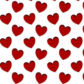 dancing red hearts pattern
