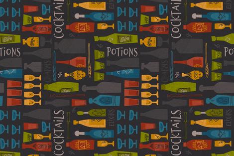 Wizard School Happy Hour fabric by justdani on Spoonflower - custom fabric
