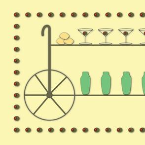 Retro Bar Cart