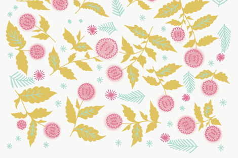 Roses Barocco flowers abstract pattern Retro victorian detailed classical background fabric by oleg&katya on Spoonflower - custom fabric