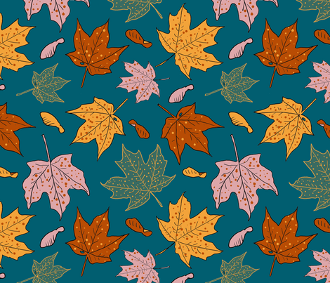 October 18 Limited palette 12x12 fabric by leroyj on Spoonflower - custom fabric
