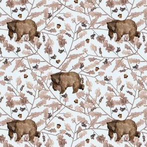 """4"""" Fall Branches and Bear - Ice"""