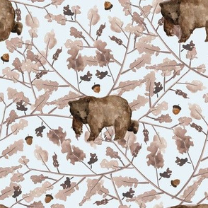 """8"""" Fall Branches and Bear - Ice"""