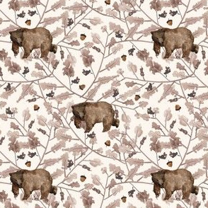 """4"""" Fall Branches and Bear - Ivory"""