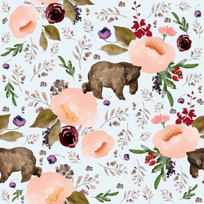 "21"" Floral Trail Bear - Ice"
