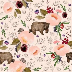 "8"" Floral Trail Bear - Sorbet"