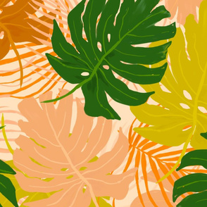 Fall tropical leaves