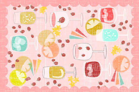 the pinks and the mints and the martinis fabric by mrshervi on Spoonflower - custom fabric