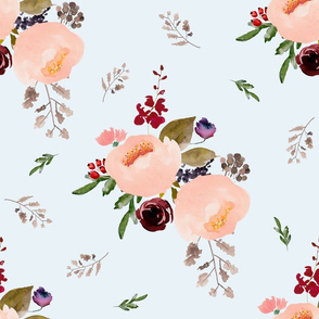"18"" Floral Trail Bouquet - Ice"