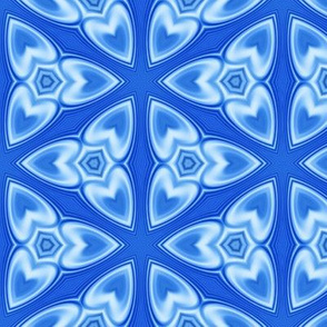 Glassy Blue Abstract