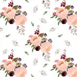 """4"""" Floral Trail Bouquet - White"""