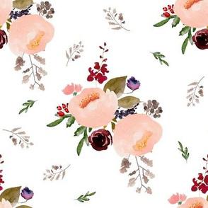 """8"""" Floral Trail Bouquet - White"""