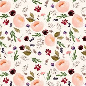 """4"""" Trail Florals - Ivory"""