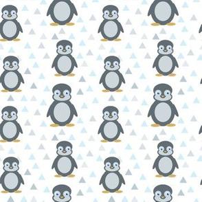 penguins pattern on white