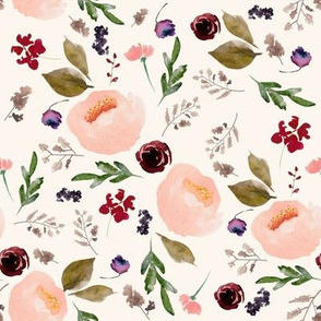 """8"""" Trail Florals - Ivory"""