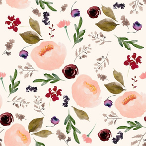 """18"""" Trail Florals - Ivory"""