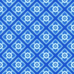 Glassy Blue Design   Geometric