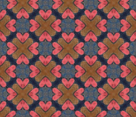 Woodline - Hearts | Large Artistic Texture fabric by southwind on Spoonflower - custom fabric