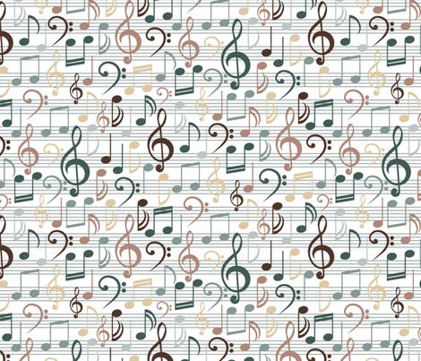 Misty Melody (lt) fabric by jjtrends on Spoonflower - custom fabric