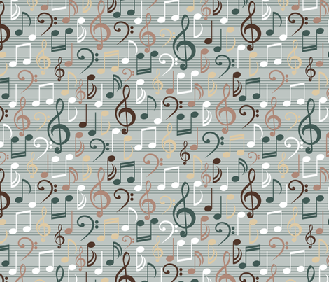 Misty Melody fabric by jjtrends on Spoonflower - custom fabric