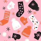 Mittens pink winter 18