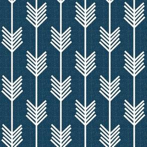 Arrow Stripe - Sailor Blue textured