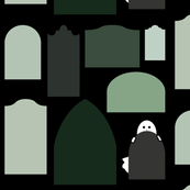 Ghostly Green Graveyard