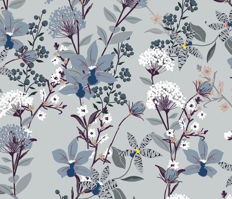 Ophelia Blue fabric by elizabethstjohn on Spoonflower - custom fabric