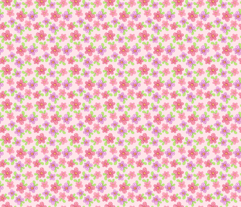 Purty Posies - Pink fabric by denise_ortakales on Spoonflower - custom fabric