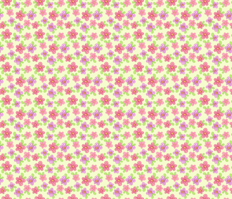 Purty Posies - Yellow fabric by denise_ortakales on Spoonflower - custom fabric