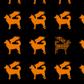 halloween dogtooth orange