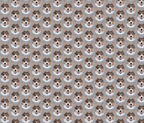 Grey Corgi fabric by foxypaws on Spoonflower - custom fabric