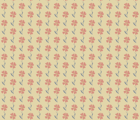 Floral_Calendula_Rose on Beige fabric by kendrashedenhelm on Spoonflower - custom fabric