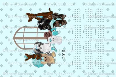 2019 Calendar - Puppy Friends