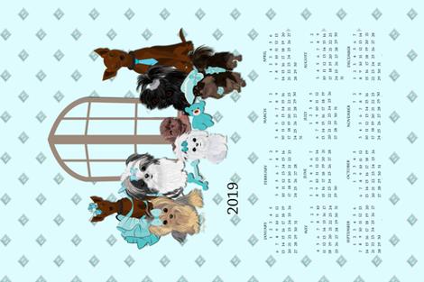 2019 Calendar - Puppy Friends fabric by sherry-savannah on Spoonflower - custom fabric