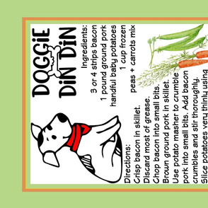 Doggie Din DIn Tea Towel