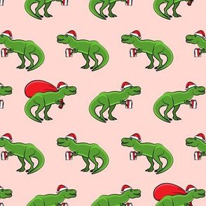 Christmas Trex - pink