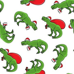 Christmas Trex - toss on white
