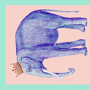Elephant Queendom Tea Towel