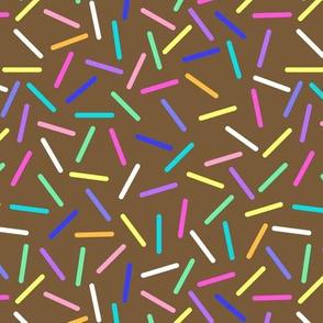 Chocolate donut sprinkles