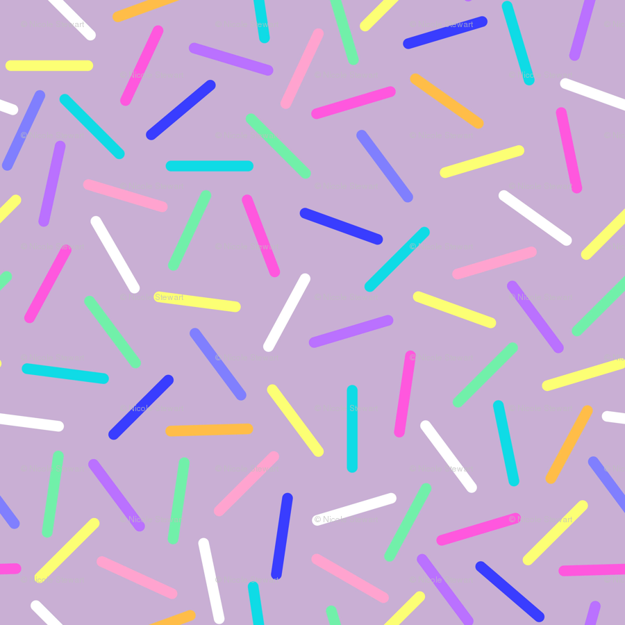 Candy Purple Sprinkles wallpaper - lub_by_lamb - Spoonflower