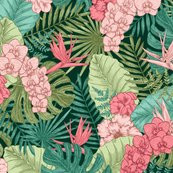 Rexotic-flowers-and-leaves-seamless-pattern-tropical-style-vector-illustration_shop_thumb