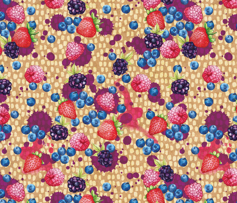 Berry splash fabric by amanda_dilworth on Spoonflower - custom fabric