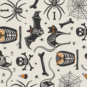 Halloween X-Ray - Tan & Black ROTATED