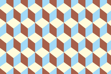 Cubes retro fabric by esteral on Spoonflower - custom fabric
