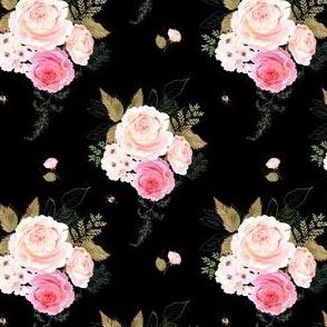 """4"""" Vintage Roses - Black"""